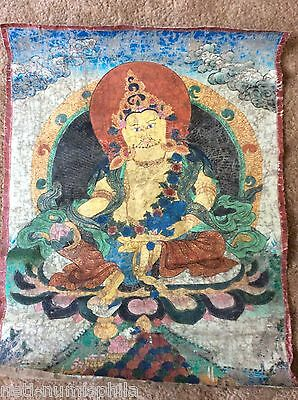 """RARE!!! NEPAL!! THANGKA PAINTING ABOUT 75 YEARS OLD.SIZE:27""""x21"""""""