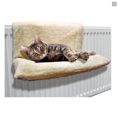 New Pet Cat Small Dog Radiator Hanging Bed Warm Fleece Hammock Basket