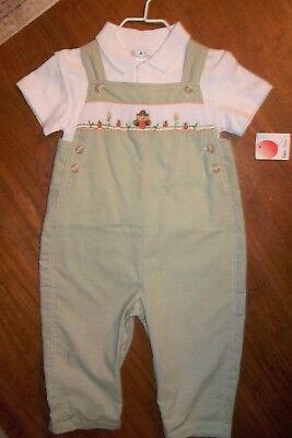 5f05582a8226 Nwt Petit Ami Thanksgiving Baby Boy Smocked Longall Sizes 3, 12 & 24 Mo