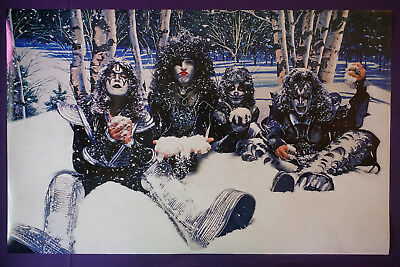 Kiss Rock Band Gene Simmons Paul Stanley Peter Criss Ace Snow Poster 23X36 New