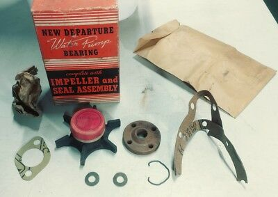 1960-90 Buick Water Pump Kit - New Departure No. 52 New Old Stock Parts