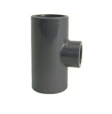 40mm 32mm PVC VDL Reducing Tee Solvent Weld Marine Tropical Aquarium Pipework