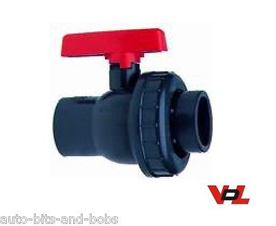 50mm VDL Tap PVC Metric Single Union Valve Marine Tropical Aquarium Pipework