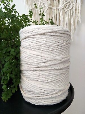 macrame cord 7.5 mm 230m 2kg rope string 100% cotton single twist twisted