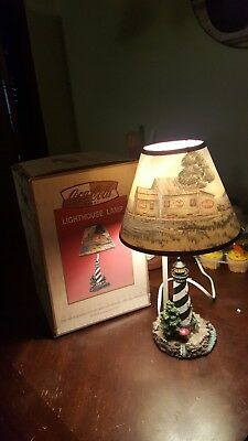 """2001 Issue """"RARE"""" COCA-COLA Collectible """"LIGHTHOUSE"""" Polyresin """"TABLE"""" LAMP"""
