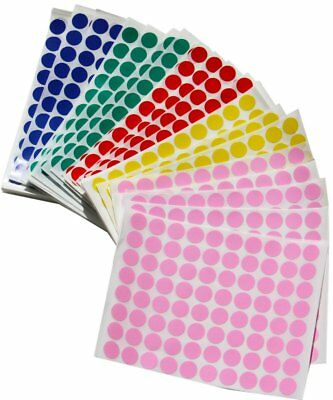 Half Inch Circle Dots Stickers Round Adhesive Color Coding Labels 6000 Pack