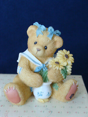 Cherished Teddies - Susan - Girl With Brown-Eyed Susan Figurine - 202894 - 1996