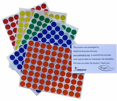 Colored Coding 1/2 Inch Dot Stickers Adhesive Round Circle Labels 6000 Pack