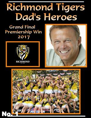 Richmond Tigers Premiership Win 2017- Personalised Poster With Photo (6 DESIGNS)