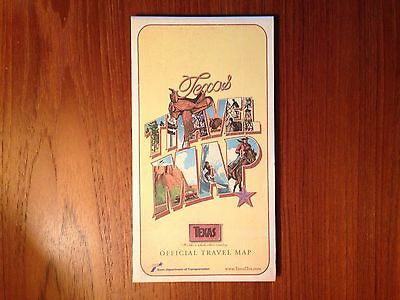 Vintage 2007 Official TEXAS TX State Issued Highway Travel Road Map NEW-school