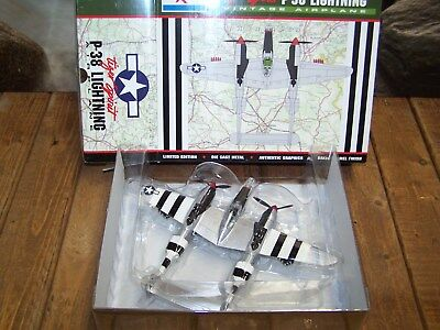 Tiger Spirit P-38 Lightning Limited Edition Die Cast Metal Airplane=New In Box