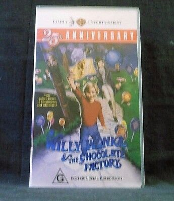 Willy Wonka And The Chocolate Factory Vhs Willy Wonka &th...