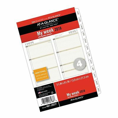 AT-A-GLANCE Day Runner Weekly / Monthly Planner Refill January 2018 - Decembe...
