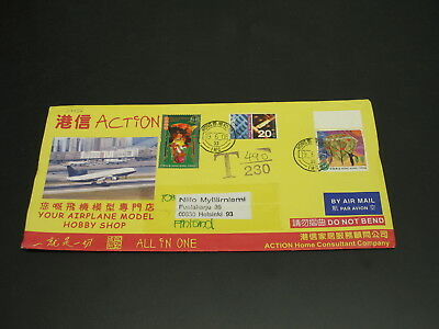 Hong Kong 2006 postage due Airmail cover to Finland *29956