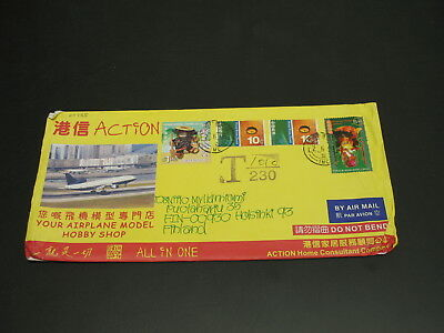 Hong Kong 2006 postage due Airmail cover to Finland *29955