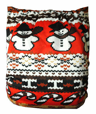 C430 Cute Christmas Baby Infant Printed Cloth Diaper Cover Reusable US Shipping