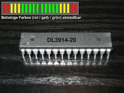 DL3914 + 2x LED-Bargraph rot/gelb/grün + Taster, Alternative zum LM3914
