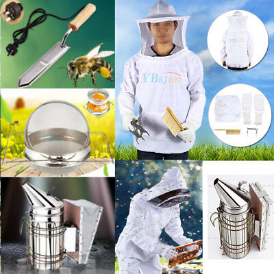 Beekeeping Veil Suit /Electric Knife /Honey Strainer/Hive Smoker Equipment Tool