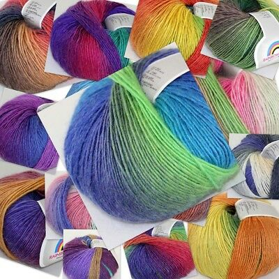 Sale 50gr Ball Soft Cashmere Wool Colorful Rainbow Wrap Shawl Hand Knit Yarn