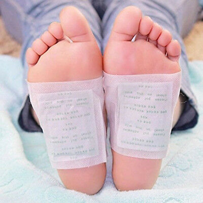 10/100 x Detox Foot Pad Patches Remove Harmful Body Toxins Health Sleep ab1