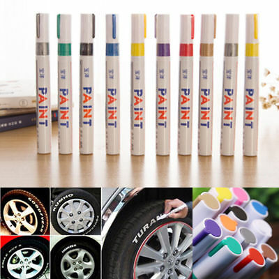 1x White Paint Pen Marker Waterproof Permanent Car Tire Lettering Rubber Letter