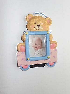 Hallmark NEW Adorable Bear Photo Frame for Baby Picture!