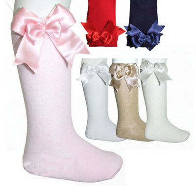 Baby Girls Double Bow Knee  Tutu Socks Double Bow Knee High Party Summer Gift