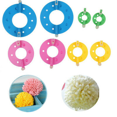 4Size/8PCS DIY Fluff Ball Weaver Needle Craft Knitting Loom Wool Pompom Maker AU
