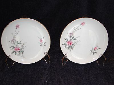 TWO Fine China of Japan Golden Rose Bread Plates, Set of 2 EXCELLENT