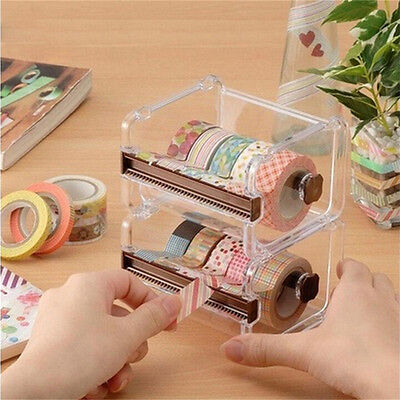 Desktop Tape Dispenser Tape Cutter Washi Tape Dispenser Roll Tape Holder UK67