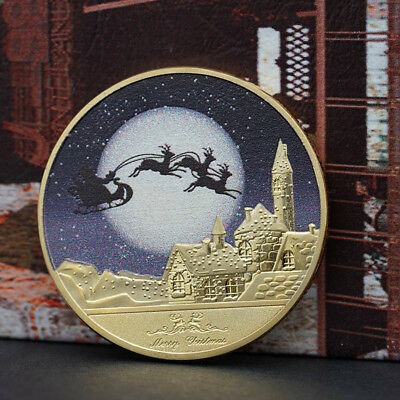 Merry Christmas And Happy New Year Commemorative Coin Gift NEW Pop*