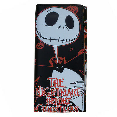 Boy's Girl's Wallet Nightmare Before Christmas Jack Skellington Long Purse Gifts
