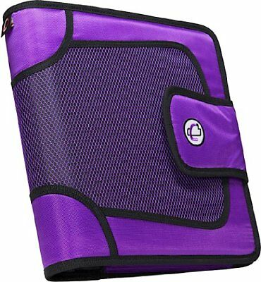 Case-it Open Tab Velcro Closure 2-Inch Binder with Tab File, Purple, S-816-PUR