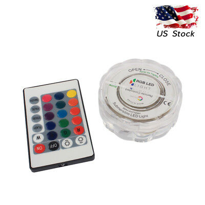 Swimming Pool LED Light Underwater Remote RGB Control Multi Color Fountain Equip