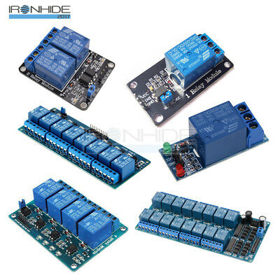 5V 1/2/4/6/8/16 Channel Relay Board Module Optocoupler LED for Arduino ARM/AVR