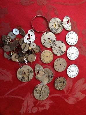 Good Job Lot Of Early Waltham Gents Wrist Watch Parts  For Spares Or Repair.