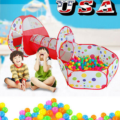 Portable Kids Toy Ocean Ball Pit Pool Indoor Outdoor Baby Game Play 3 in 1 Tent