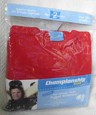 New Quality Red Size 18 Months Boys Thermal Underwear Set Long Johns
