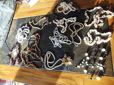 Vintage Assorted Costume Jewelry Necklace Lot of 13 Pieces