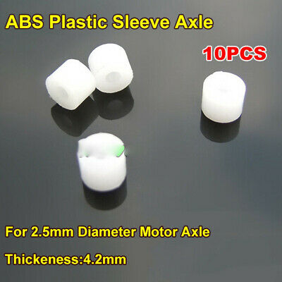 10PCS ABS Plastic Sleeve Axle Fixing Shaft Gasket Sleeve for 2.5mm Motor shaft