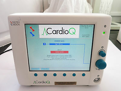 Deltex Medical Cardioq Patient Monitor Stroke Volume Cardiac Probe Display Uk