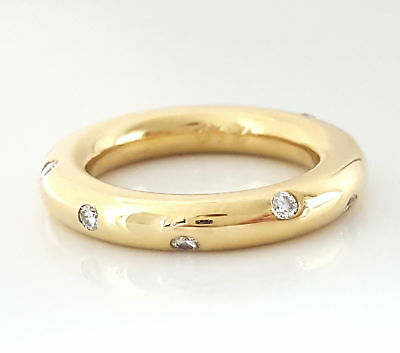 Wert 2600,- If - Vvs 0,40 Ct Brillant Memory Ring 750 / 18 Kt Gold Sehr Massiv