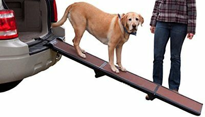 Pet Gear Tri-Fold Ramp 71 inch Pet Ramp supports 200LBS,Chocolate, Full Length