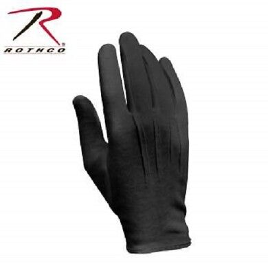 Black Cotton Dress Parade Band Waiter Gloves Military Formal Color Guard Tuxedo