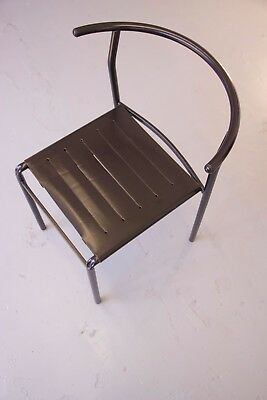 Six leather 'Café Chairs' by designer Philippe Starck, 1984 - Genuine & Rare