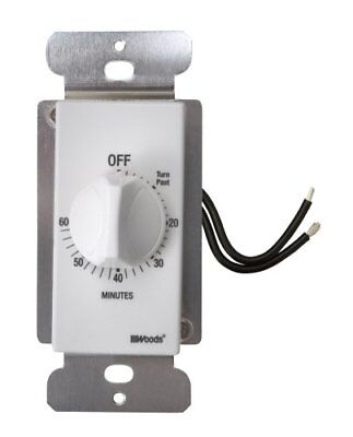 Woods 59717 60-Minute In-Wall Spring Wound Countdown Timer, Mechanical Switch