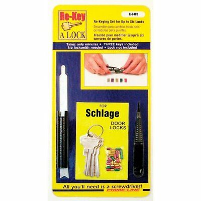 """Prime-Line Products E 2402 Re-Key A Lock Kit, Schlage Type """"C"""", 5-Pin Tumbler"""