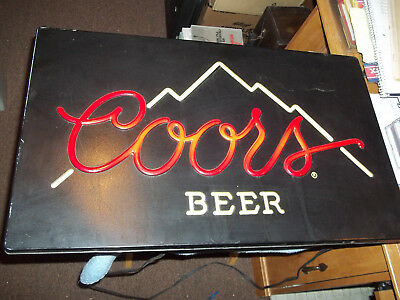 Vintage Coors Lighted Beer Sign Cad 35 76 Picclick Ca