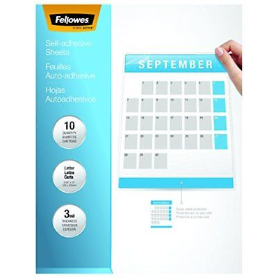 Fellowes Laminating Sheets, Self Adhesive, Letter Size, 3 Mil, 10 Pack