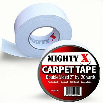 """Mighty """"X"""" Carpet Tape - Double Sided - 60 Feet x 2 Inches - Extra Thick - 20"""